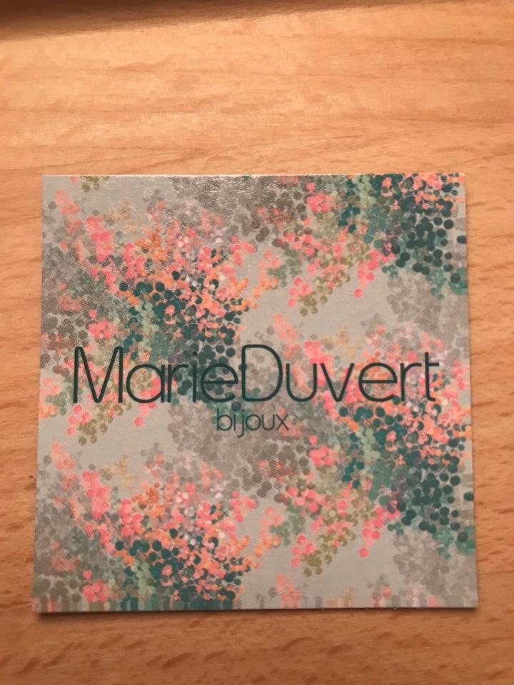 Marie Duvert :  Bijoux poétiques made inLimoges