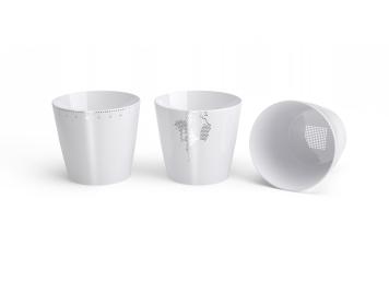 Non Sans Raison porcelaine de Limoges pack- trois timbales 8 copie